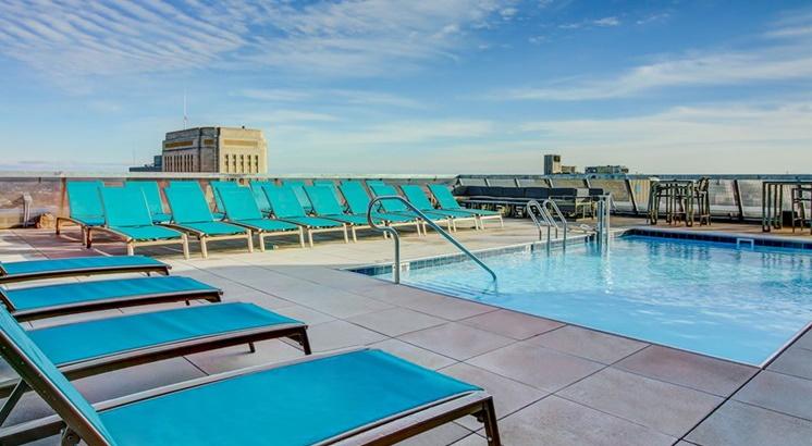 rooftop pool in KC