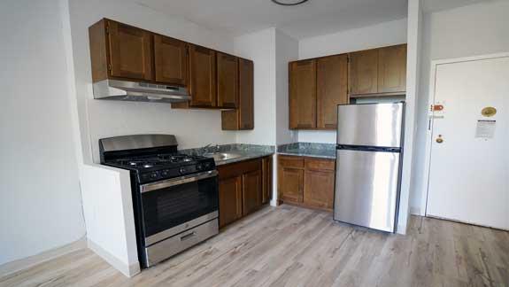 Renovated kitchen at Ft. Washington.