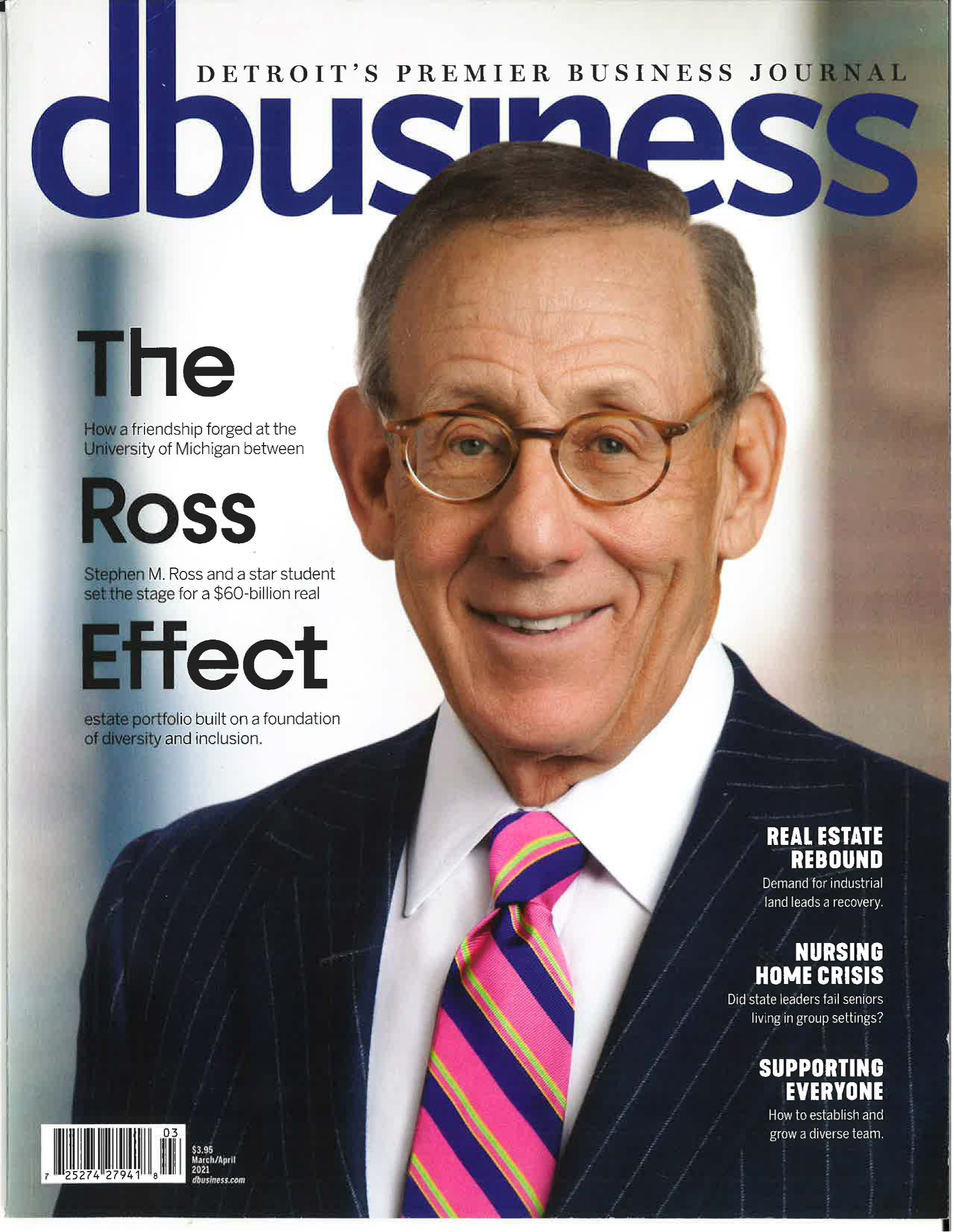 Cover of D Business Featured article 'the Ross Effect' picturing Stephen Ross