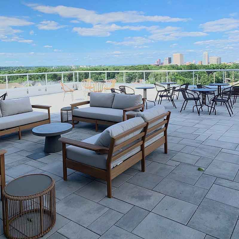 Rooftop terrace at Westboro Connection