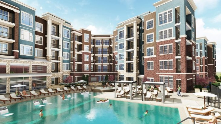 our luxury apartments pool amenities