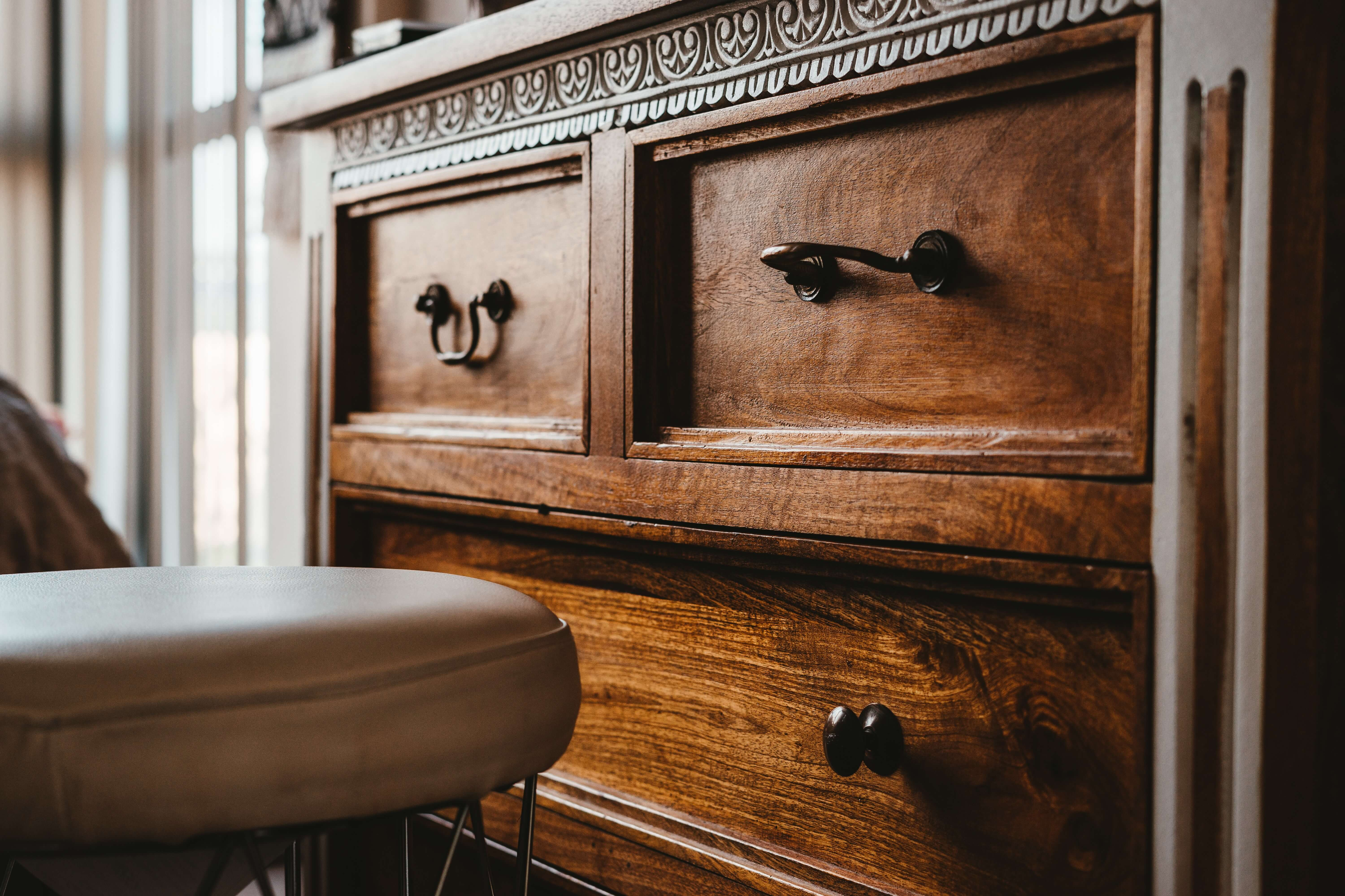 old furniture used to decorate small space