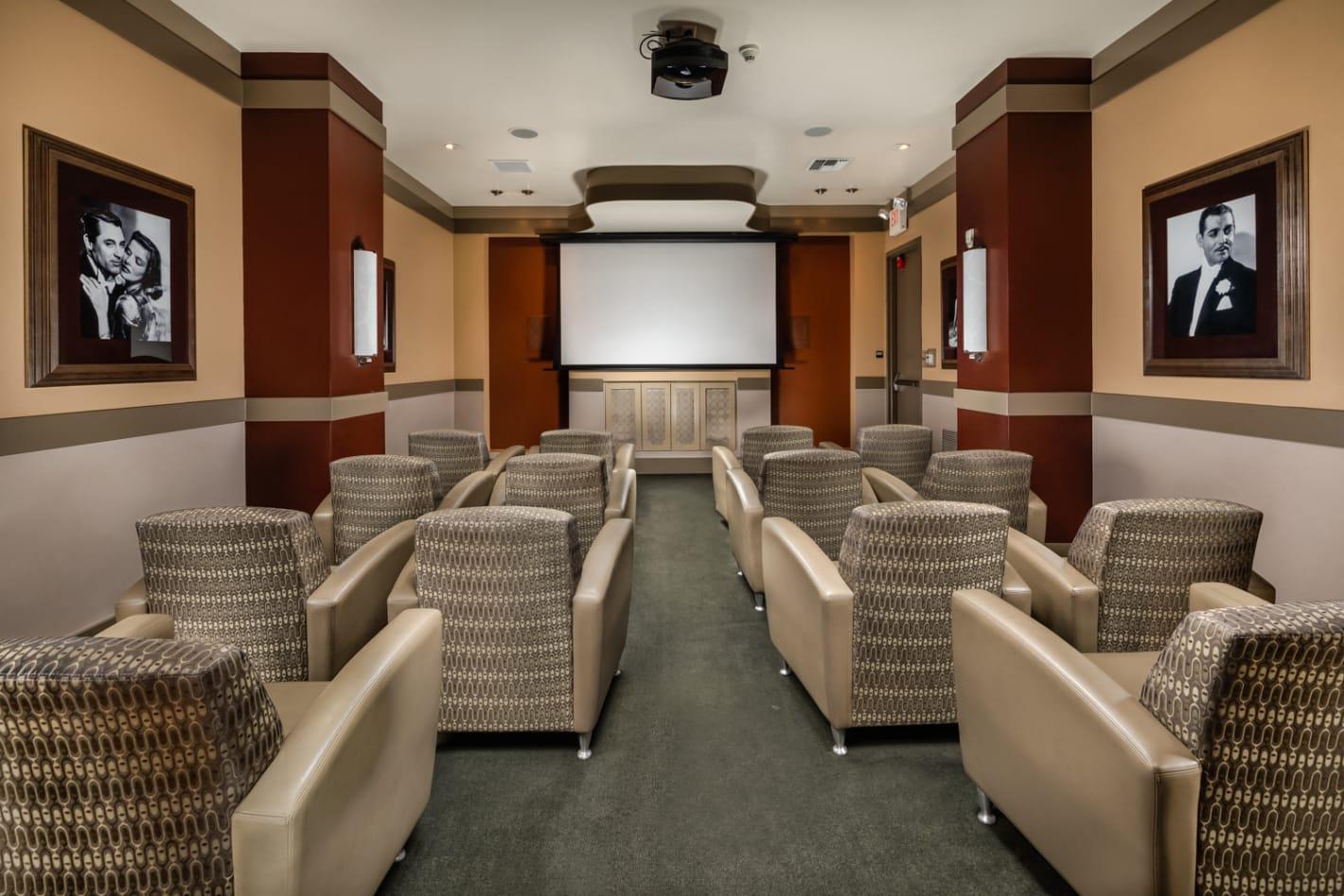 movie theater at trio apartments Pasadena, CA