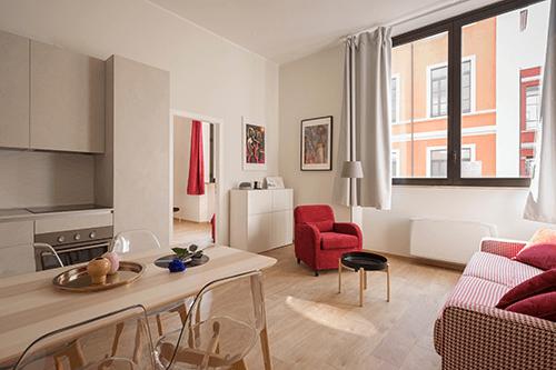 a clean apartment