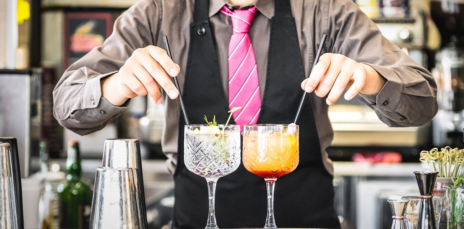 Mixologist with Cocktails