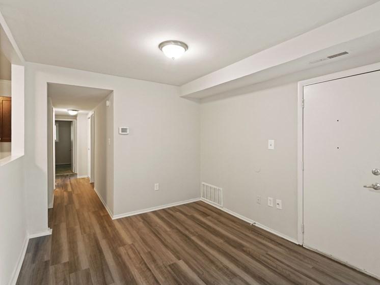 Hallway with hardwood floors