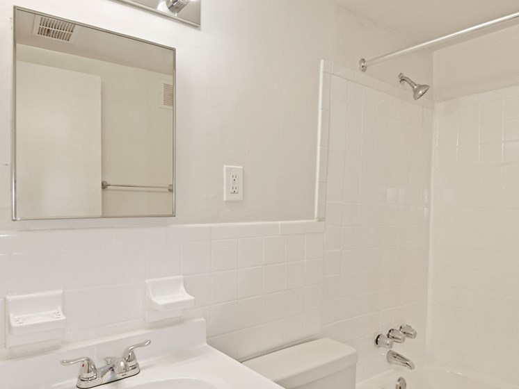 Bathroom with white tile
