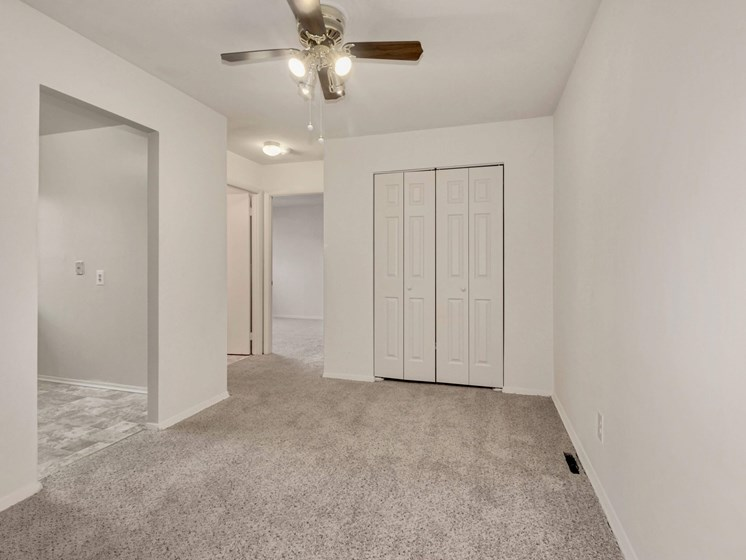 Dining area with large storage closet