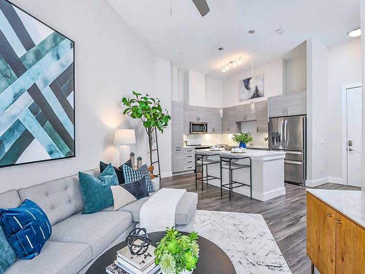 Living Room With Kitchen View at Axio at Carillon, Florida, 33716
