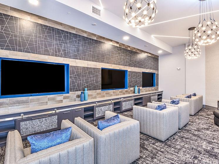 Media Lounge at Axio at Carillon, Saint Petersburg, FL, 33716