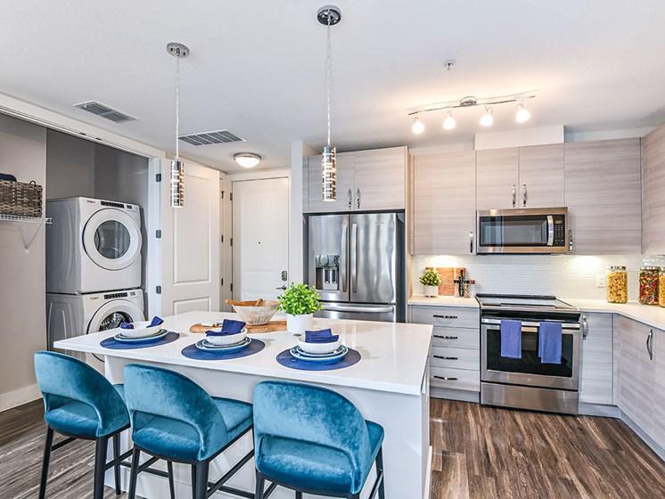 Gourmet Kitchen With Island at Axio at Carillon, Florida, 33716