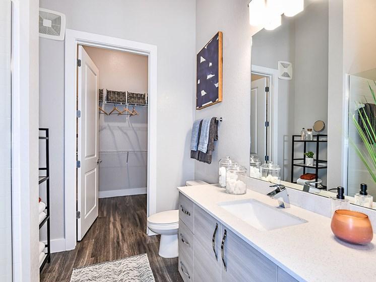 Bathroom With Adequate Storage at Axio at Carillon, Saint Petersburg, 33716