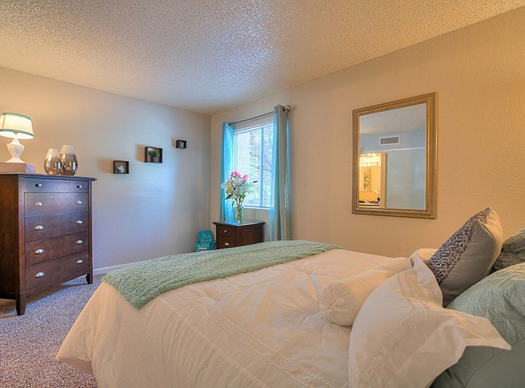 Private Primary Bedroom Balcony With Over sized Windows at Eagle Point Apartments, Albuquerque, 87111