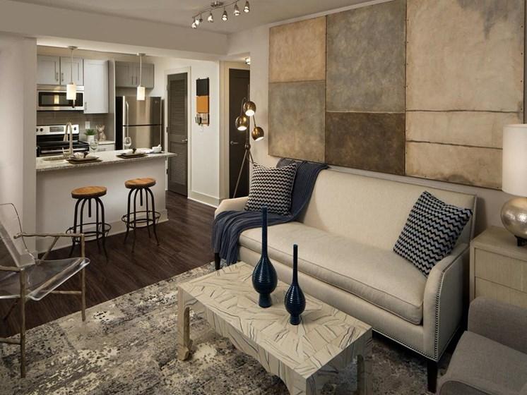 Spacious Living Room at The Metro Apartments, Atlanta, GA, 30339