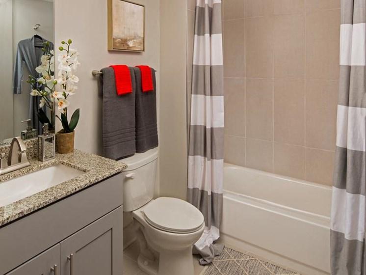Shower Enclosures at The Metro Apartments, Atlanta, Georgia
