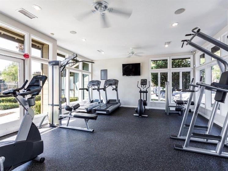 Fitness center at The Ashton, Corona, California
