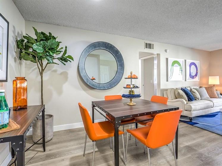 dining room at The Ashton, California, 92879