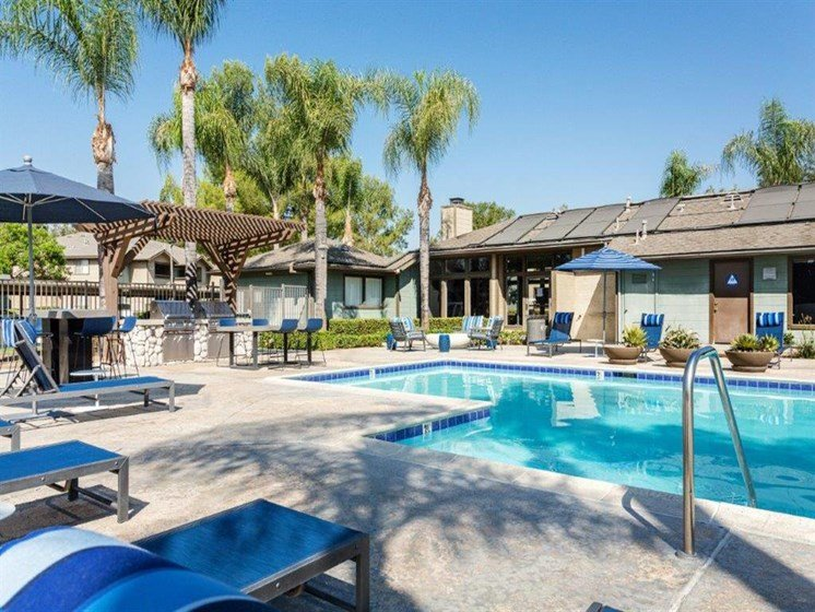 Pool Side Relaxing Area With Sundeck at The Ashton, Corona