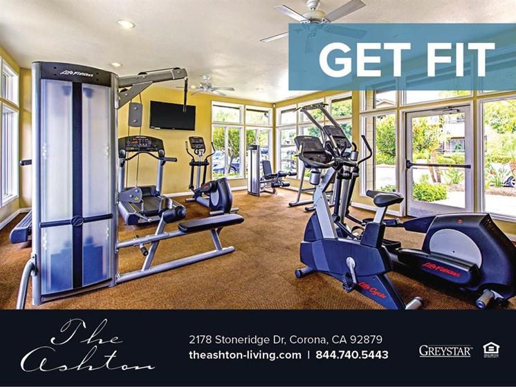 Cardio Machines In Gym at The Ashton, Corona, CA