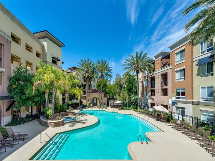 Resort Style Pool at The Madison at Town Center, California, 91355