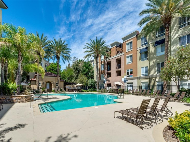 Lounging by the Pool at The Madison at Town Center, California