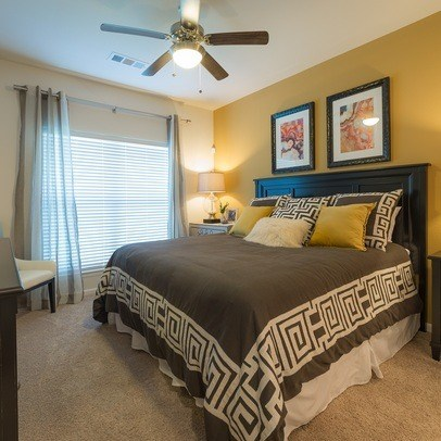 Bedroom With Expansive Windows at Allora Bella Terra, Richmond, TX