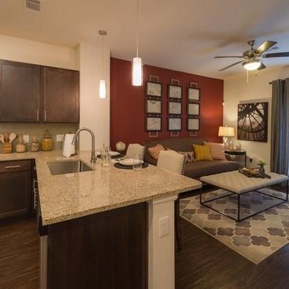 Kitchen/Living room at Allora Bella Terra, Texas