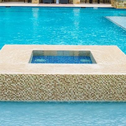 Pool With Fountain at Allora Bella Terra, Richmond