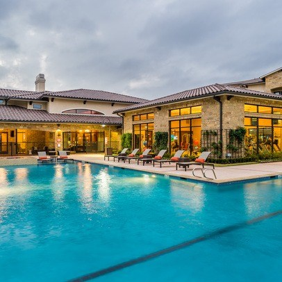 Pool With Clubhouse at Allora Bella Terra, Richmond, Texas