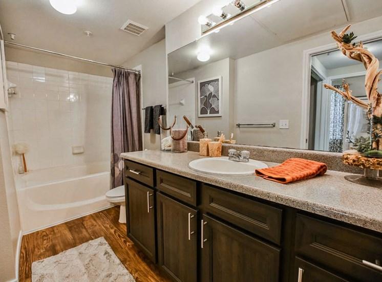 Bathroom of model unit