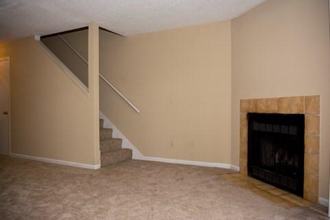 Living room with hallway at Laurel Grove Apartment Homes, Orange Park, FL