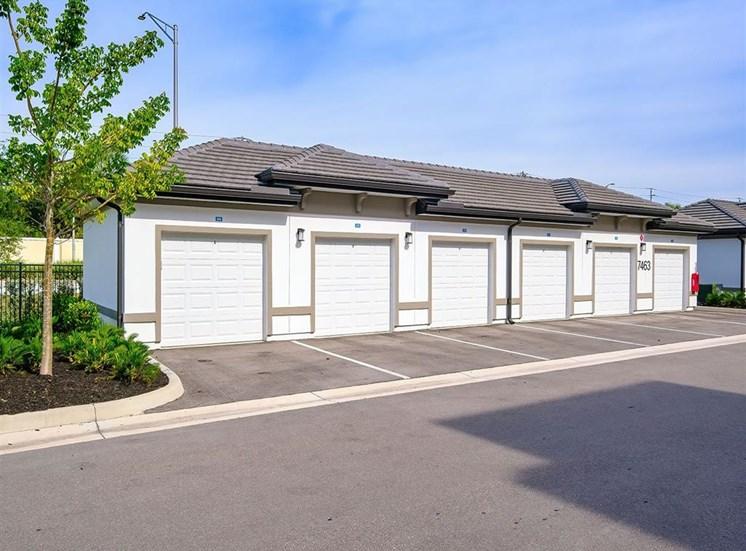 bank of detached garages at Inspira, Naples, FL