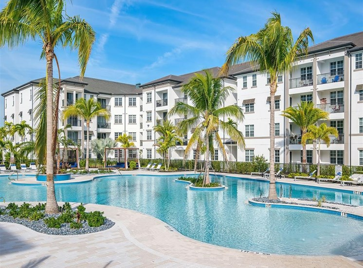 Pool with islands at Inspira, Naples, FL, 34113