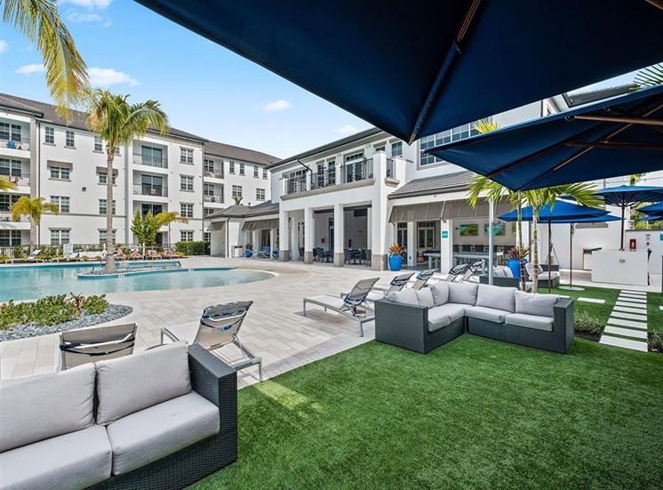 Courtyard seating at Inspira, Naples, FL, 34113