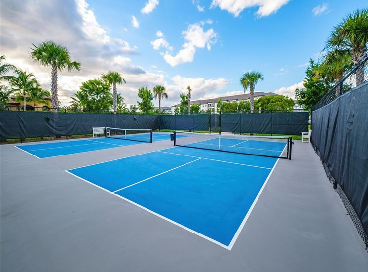Pickleball courts at Inspira, Naples, Florida