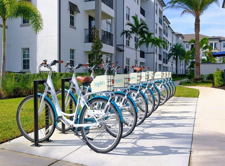 Bikes available for residents at Inspira, Naples, 34113