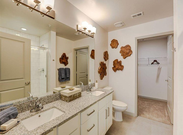 Primary Bathroom in two bedroom model apartment at Inspira, Naples, 34113