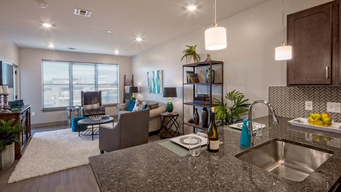 Living Room of Model Apartment at Vicina