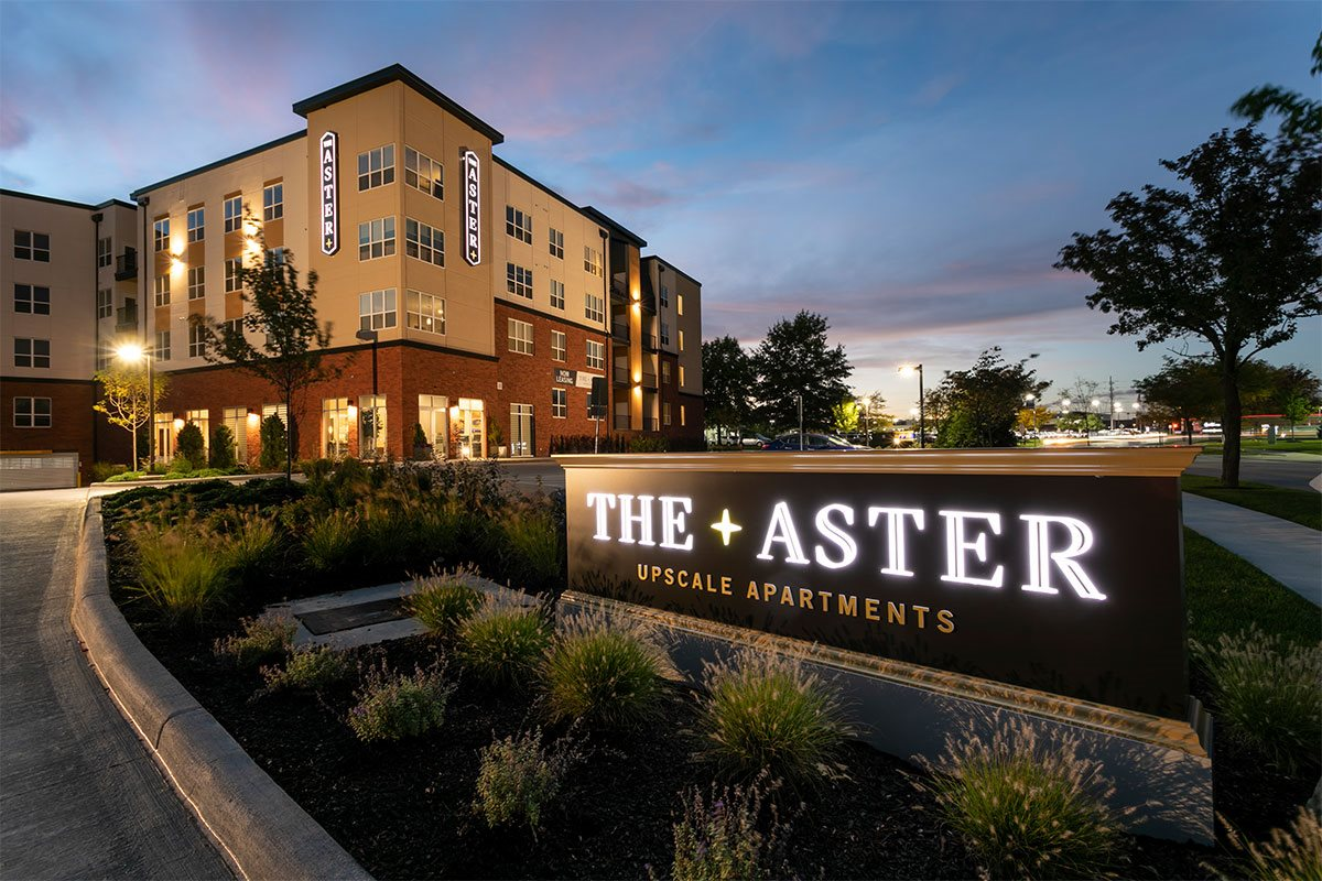 The Aster Signage