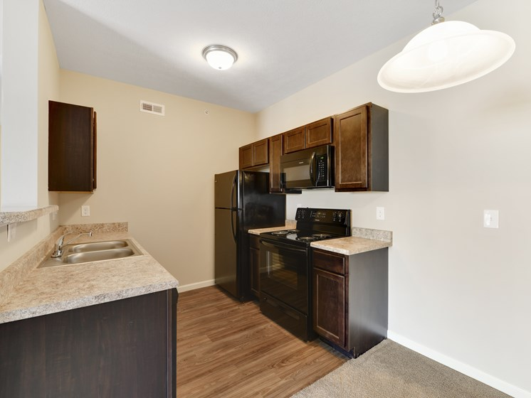 Kitchen In Foxfire Floor Plan At Austin Place Apartments