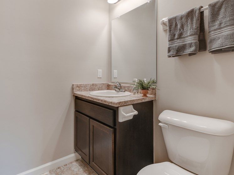 Single Vanity in Bathrooms at Austin Place Apartments