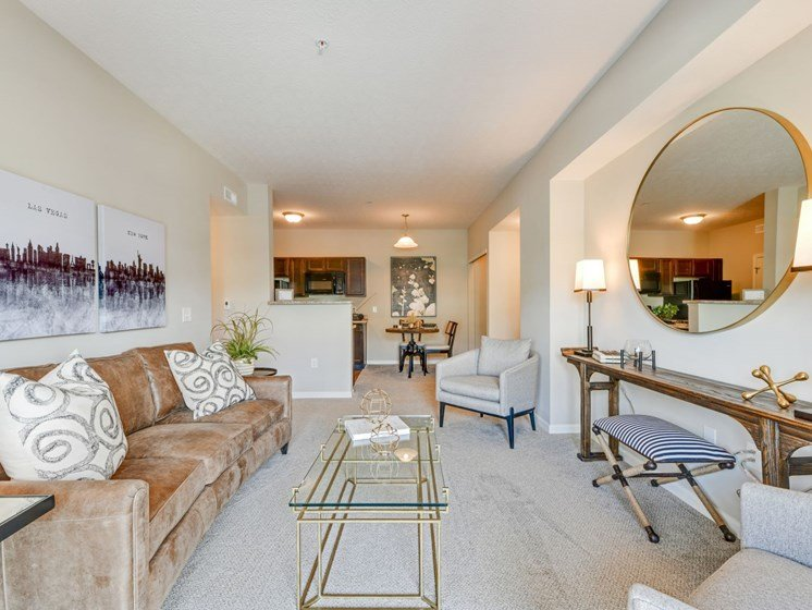 Modern Furnished Living Room at Austin Place
