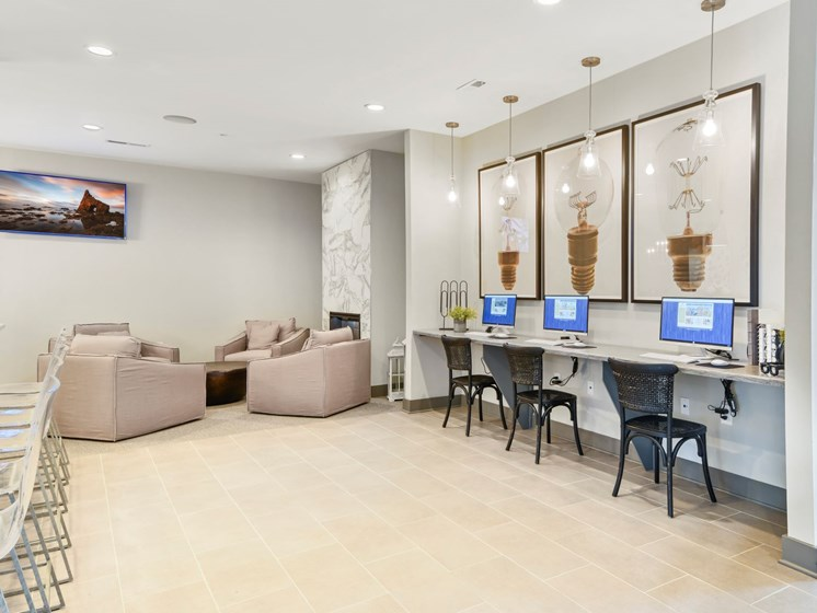 Clubroom's Business Center at Austin Place Apartments