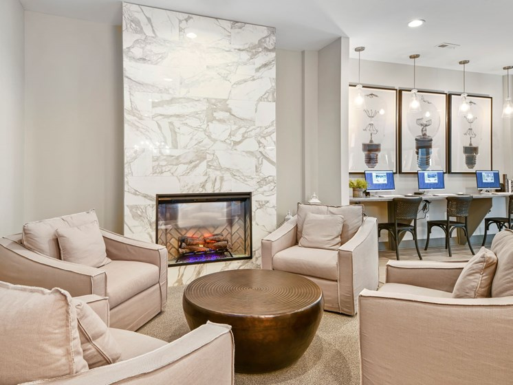 Ample Seating in Austin Place Apartments Clubhouse