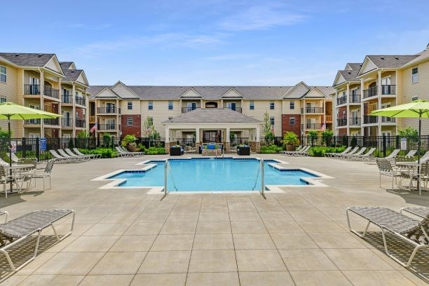 Ample Pool Sundeck at Austin Place Apartments