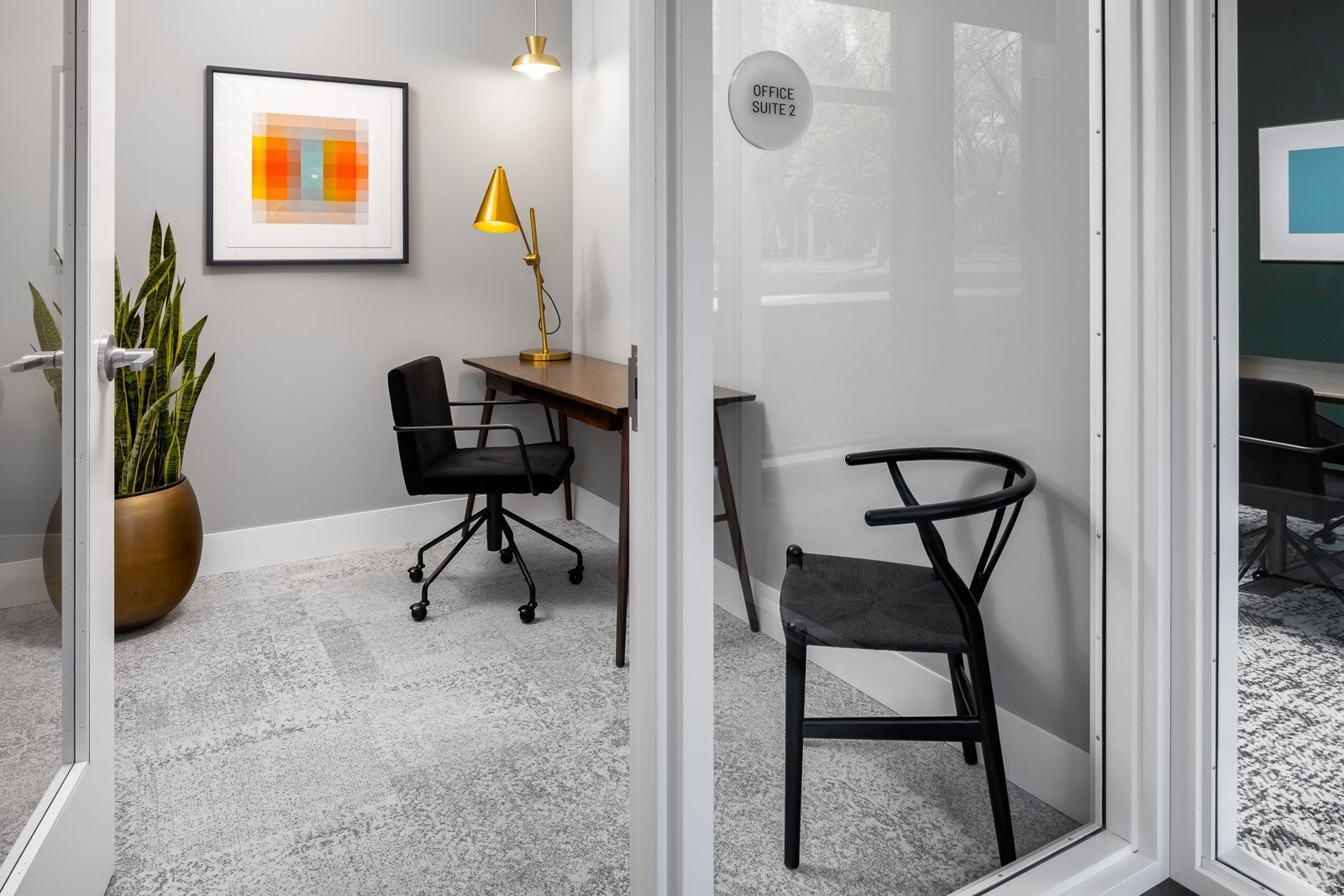 Work room for working from home at apartment community