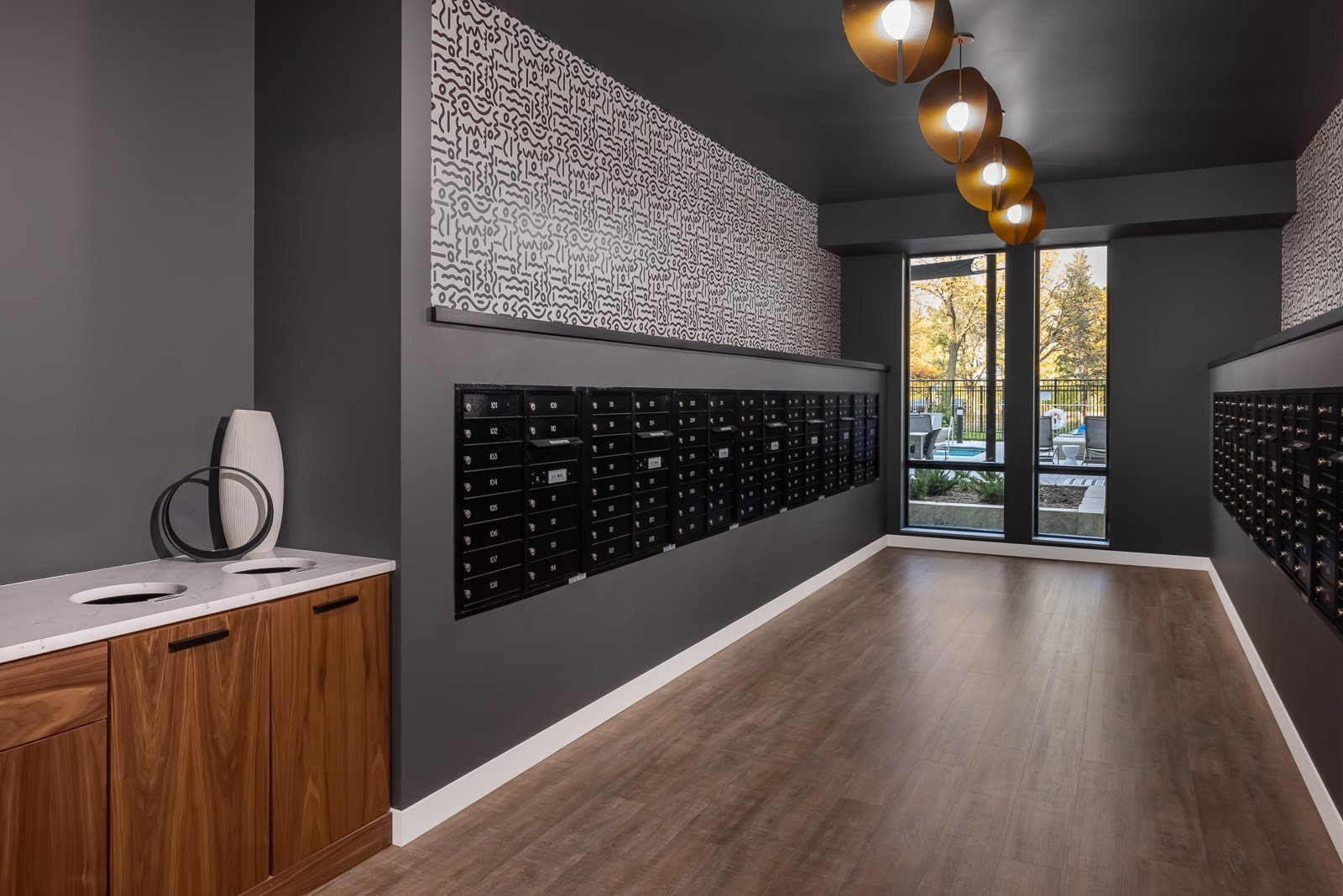 Mail room with package concierge and refrigerated storage for apartment residents