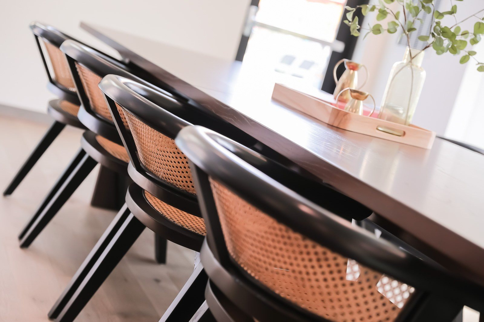 Dining table seating in club room at Vesi Apartments