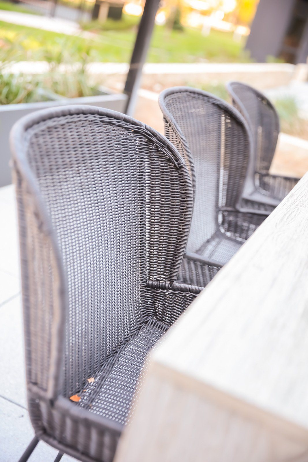 Harvest table outdoor seating and entertainment terrace