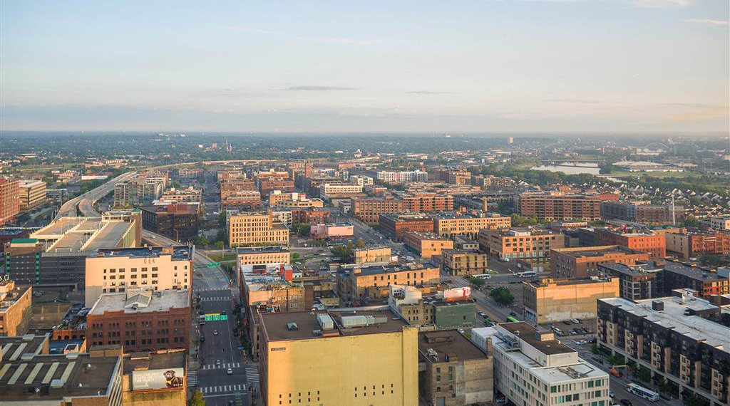 Arial view of Minneapolis